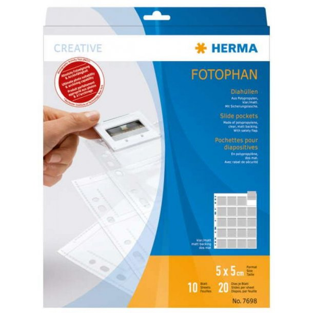 Herma 7698 Slide Pockets 5x5 - 10 Ark