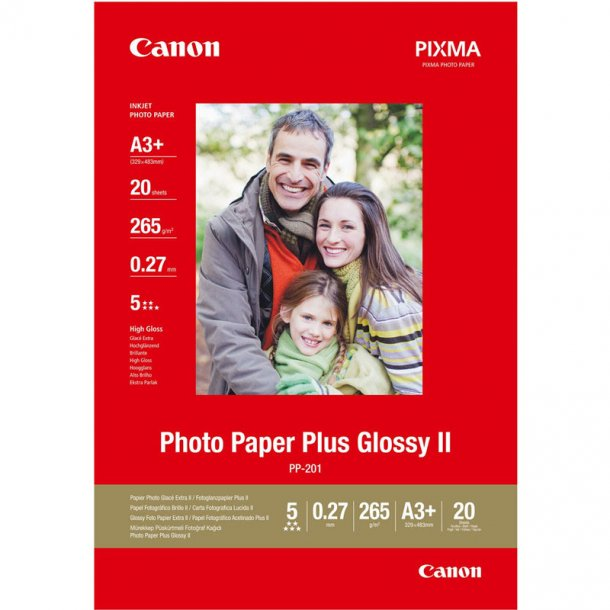 Canon PP-201 Glossy II - 20/A3+/265g