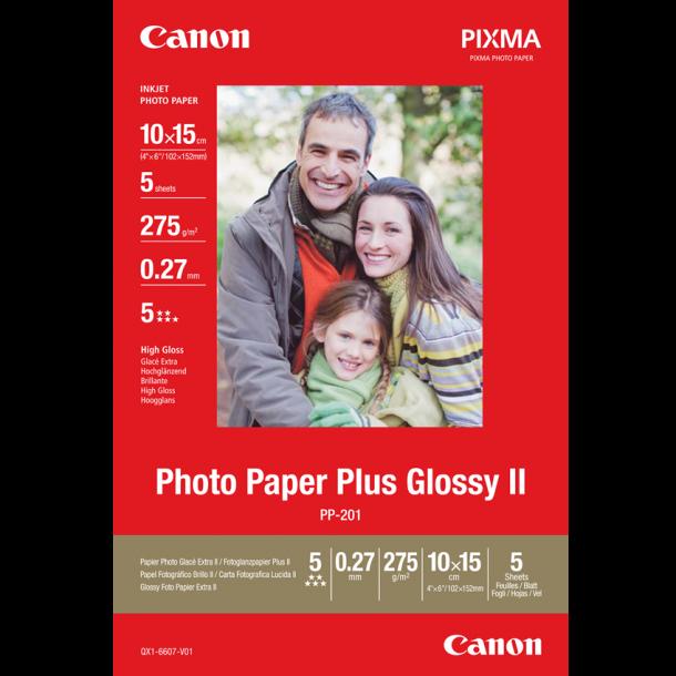 Canon PP-201 Glossy II - 50/10x15/265g