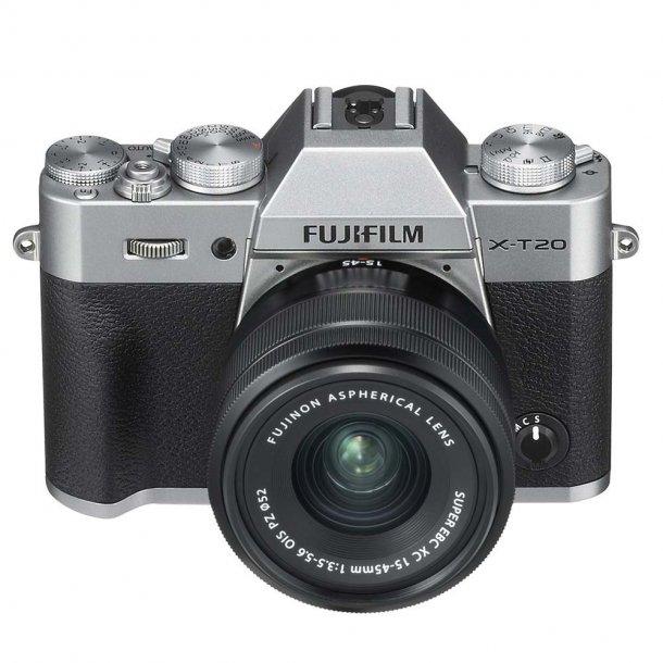Fujifilm X-T20 m/XC 15-45mm F3.5-5.6 - Sølv