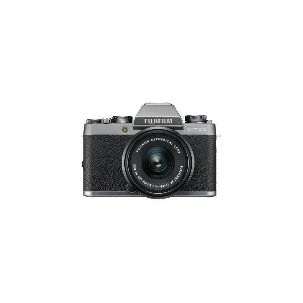Fujifilm X-T100 M/XC15-45MM OIS PZ - Sølv