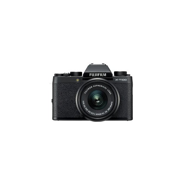 Fujifilm X-T100 M/XC15-45MM OIS PZ - Sort