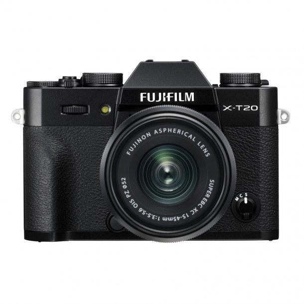 Fujifilm X-T20 m/XC 15-45mm F3.5-5.6 - Sort