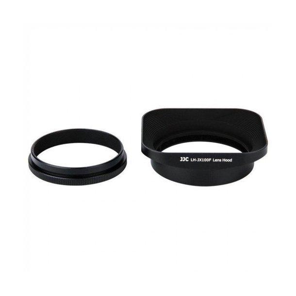 JJC LH-JX100F Lens Hood + Adapter - Sort
