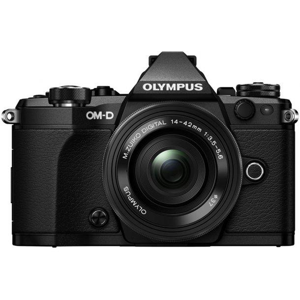 Olympus E-M5 Mark II m/14-42mm 1:3.5-5.6 EZ - Sort