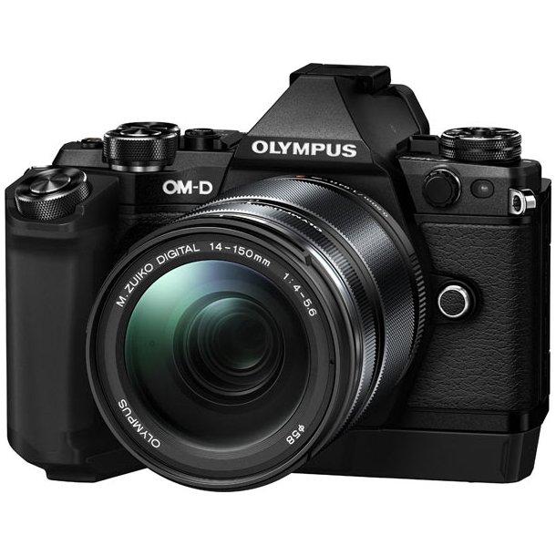 Olympus E-M5 Mark II m/14-150mm 1:4.0-5.6 II - Sort