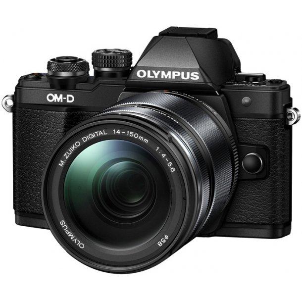 Olympus E-M10 Mark II m/14-150mm 1:4.0‑5.6 II - Sort