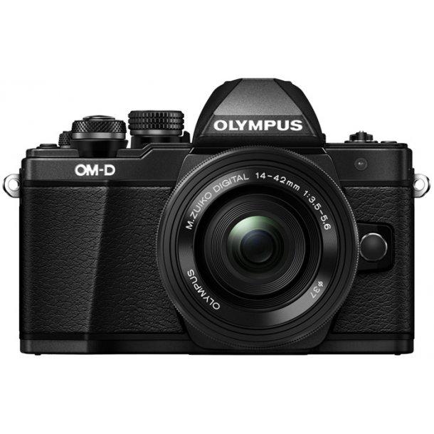 Olympus E-M10 Mark II m/14-42mm 1:3.5-5.6 EZ - Sort