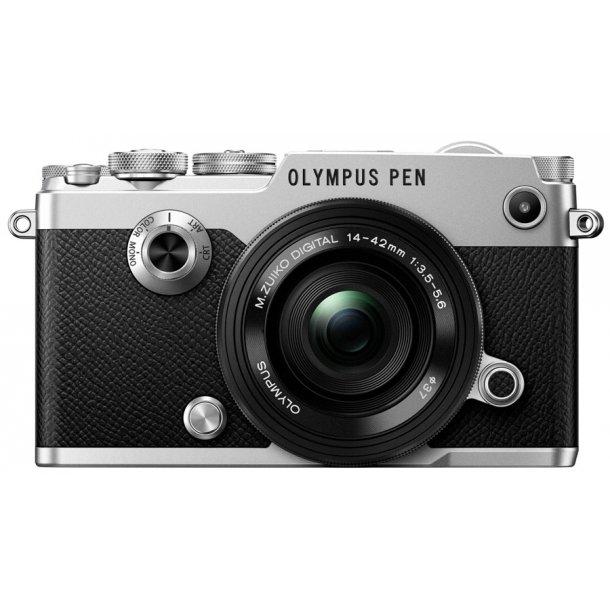 Olympus PEN-F m/14-42mm 1:3.5-5.6 EZ - Sølv