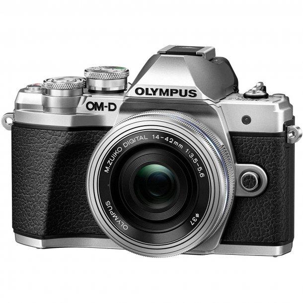 Olympus E-M10 Mark III m/14-42mm 1:3.5-5.6 EZ - Sølv