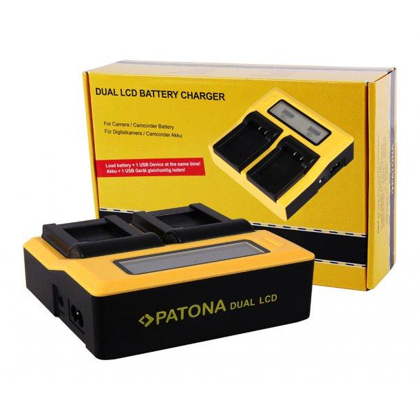 Patona Dobbelt Batteri Lader til Sony NP-FW50