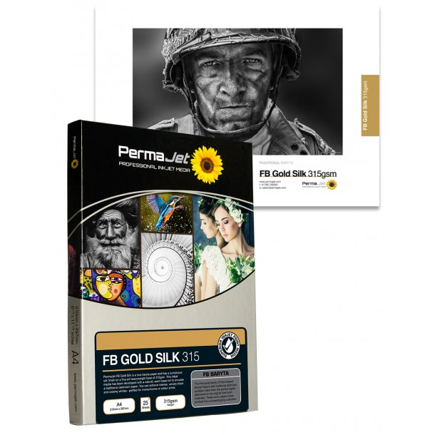 PermaJet FB Gold silk 315 gsm A4 25 ark