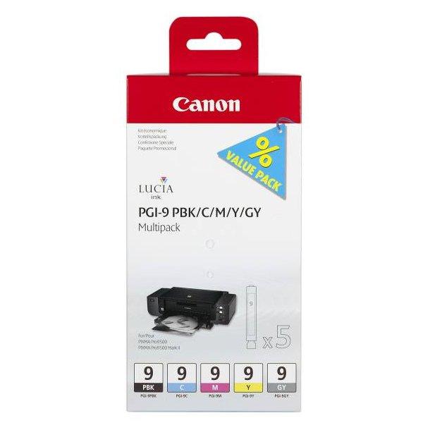 Canon PGI-9 Multipack (PBK/C/M/Y/GY)