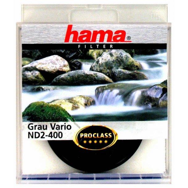 Hama 79162 Gråfilter Vario ND2-400 - 62 mm