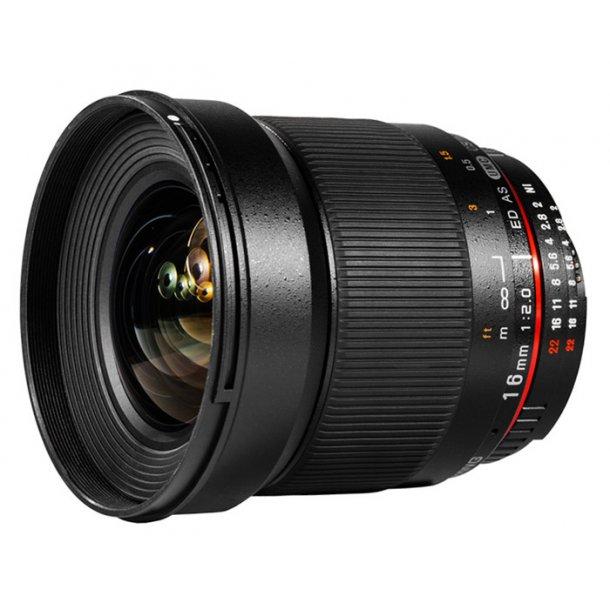Samyang 16mm f/2.0 ED AS UMC CS t/Nikon (AE)