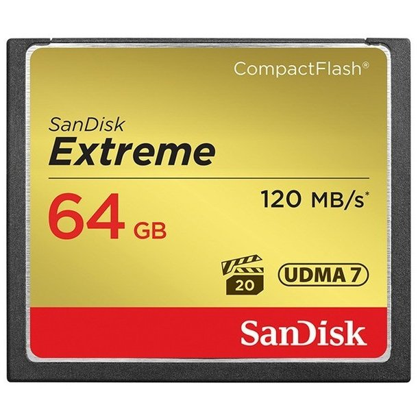 SanDisk Extreme CF 64.0 GB - 120 mb/sec.