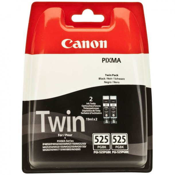 Canon PGI-525PGBK Sort - Dobbeltpakke