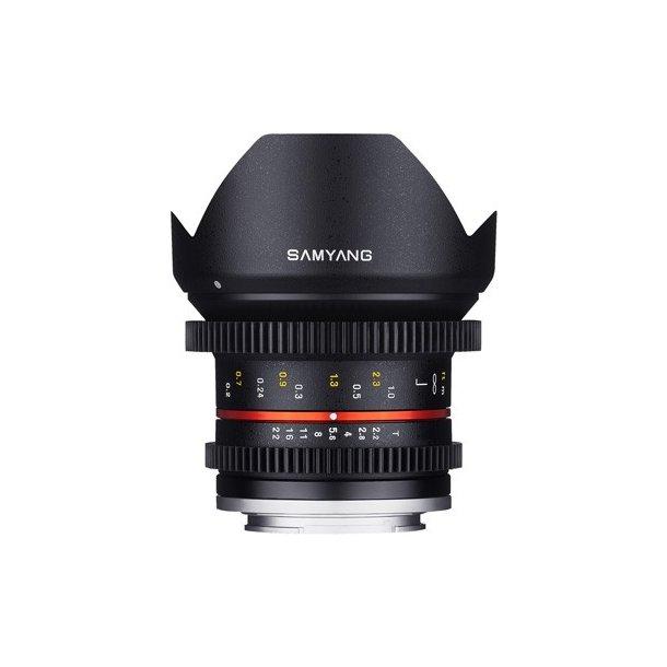 Samyang 12mm T2.2 VDSLR NCS CS t/Fujifilm X