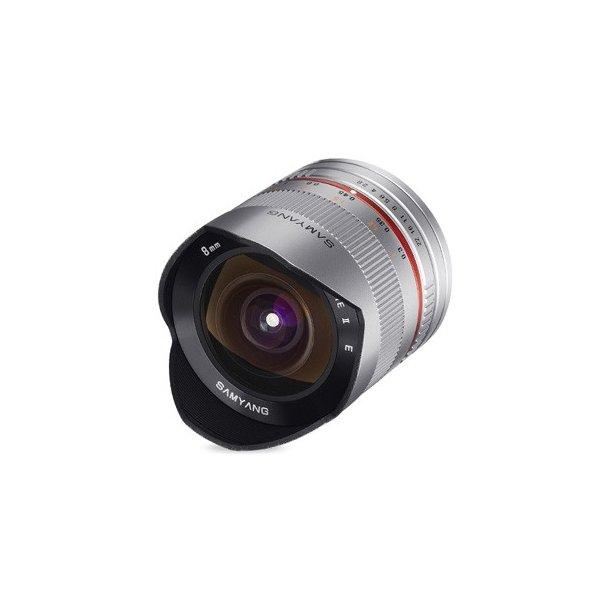 Samyang 8mm f/2.8 UMC Fisheye II Sølv t/Fujifilm X