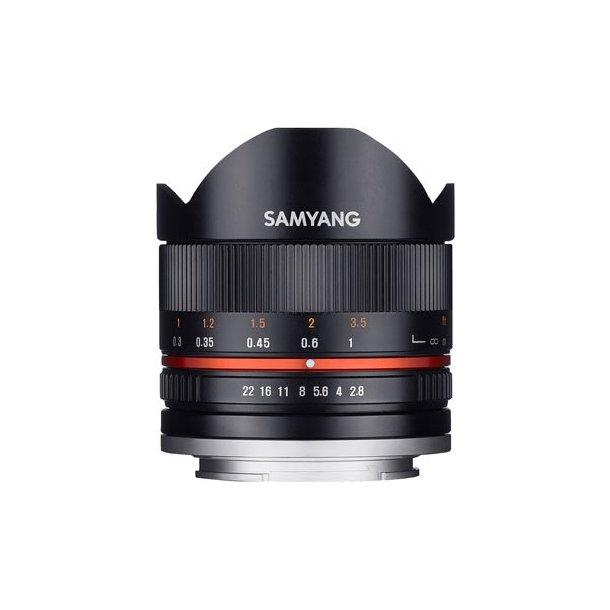 Samyang 8mm f/2.8 UMC Fisheye II Sort t/Sony E-Mount